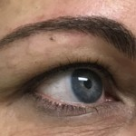 AFTER BROW MICROBLADING