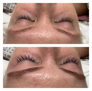 Lash and Brow Tinting Before and After